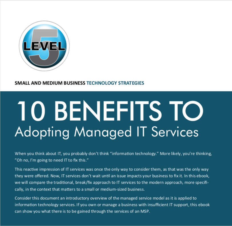 10 Benefits of Managed IT Services | eBook by Level5 Management